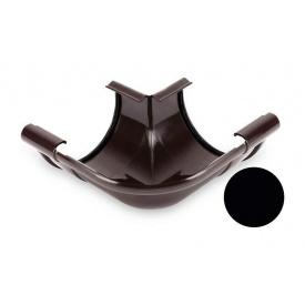 Кут внутрішній 90 градусів Galeco PVC 110/80 107х185 мм чорний