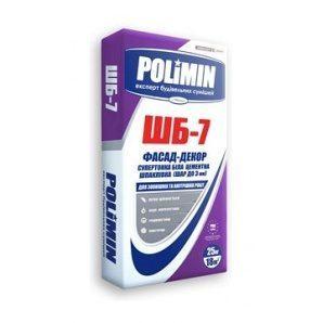 Шпаклівка Polimin Фасад декор ШБ-7 25 кг супербілий