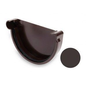 Заглушка левая Galeco PVC 150/100 148 мм темно-коричневый
