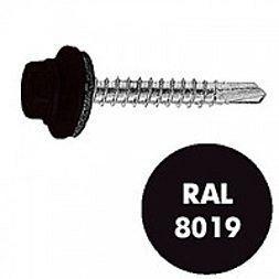 Саморез по дереву Gunnebo Info-Global 4,8х35 мм RAL 8019 250 шт