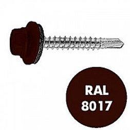 Саморез по дереву Wkret-met 4,8х35 мм RAL 8017 250 шт