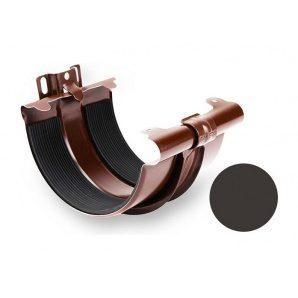 З'єднувач ринви Galeco STAL 150/100 з кронштейном 153 мм темно-коричневий
