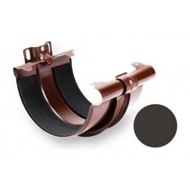 З'єднувач ринви Galeco STAL 135 з кронштейном 132 мм темно-коричневий