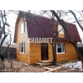 Строительство деревянного домика из бруса