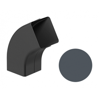 Колено 72 градуса Galeco STAL 2 125/80 80х80 мм графитовый