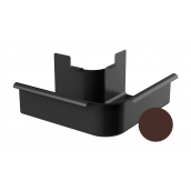 Угол внешний 90 градусов Galeco STAL 2 125/80 125 мм шоколадно-коричневый