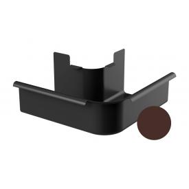 Кут зовнішній 90 градусів Galeco STAL 2 125/80 125 мм шоколадно-коричневий