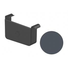 Заглушка ліва Galeco STAL 2 125/80 125 мм графітовий