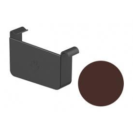 Заглушка ліва Galeco STAL 2 125/80 125 мм шоколадно-коричневий