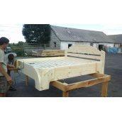 Кровать деревянная 2050х1750 мм