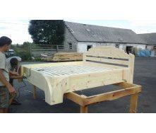 Ліжко дерев'яне 2050х1750 мм