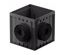 Дождеприемник расширенный Galeco BEZOKAPOWY 300х300х300 мм черный