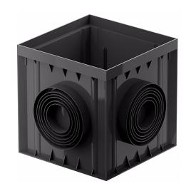 Дощоприймач розширений Galeco BEZOKAPOWY 300х300х300 мм чорний