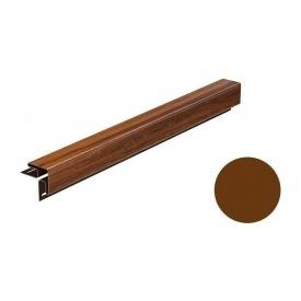 Угол наружный для софита Galeco DECOR 3000 мм ореховый