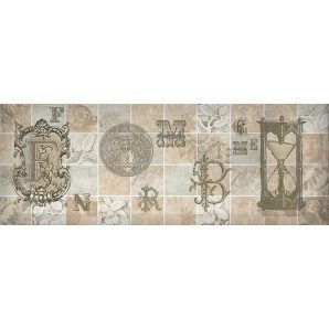 Декор Inter Cerama ANTICA 15x40 см серый (Д 128 072-4)
