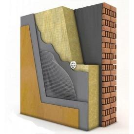 Штукатурный фасад с базальтовой ватой