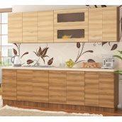 Кухня Мебель-Сервис Анюта 2,0 м со столешницей коричневая