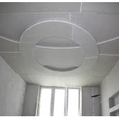 Монтаж гипсокартона кессон радиусный на потолок