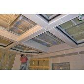 Монтаж гипсокартона кессон прямой на потолок