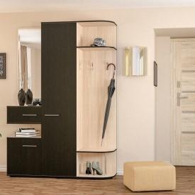 Прихожая Мебель-Сервис Интер 2160х1500х450 мм ясень светлый/венге темный
