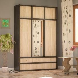 Прихожая Мебель-Сервис Соня 2300х1500х420 мм венге темный/дуб самоа