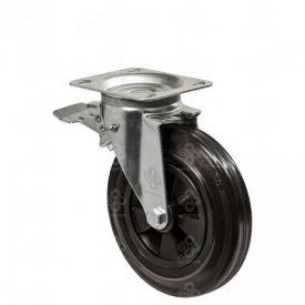Колесо поворотне Medium Scaffolding 32 з кріпильною панеллю і гальмом