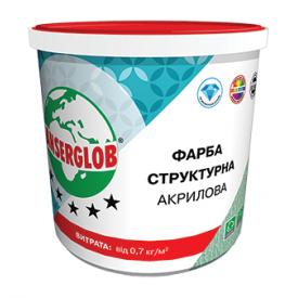 Краска структурная Anserglob акриловая 15 кг белый