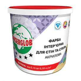 Краска интерьерная Anserglob акриловая 7,5 кг белый