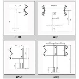 Мостовое ограждение 11МД-1 двухстороннее