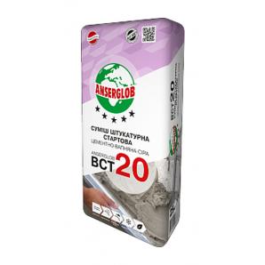 Штукатурка Anserglob BCТ-20 25 кг серый