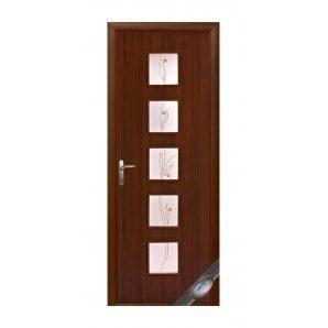 Двері міжкімнатні Новий Стиль КВАДРА Р Фора №1 600х2000 мм горіх