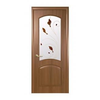 Двери межкомнатные Новый Стиль ИНТЕРА DeLuxe Р Аве 600х2000 мм золотая ольха
