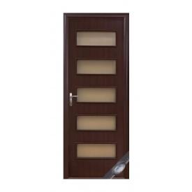 Двери межкомнатные Новый Стиль КВАДРА Дама 600х2000 мм венге