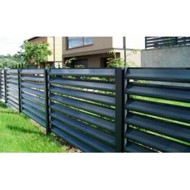 Забор-жалюзи Викнова стальной оцинкованный