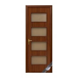 Двері міжкімнатні Новий Стиль КВАДРА Нера 600х2000 мм горіх