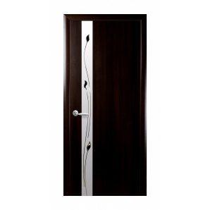 Двері міжкімнатні Новий Стиль ПВХ КВАДРА Р Злата 600х2000 мм венге