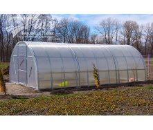 Теплиця збірна з оцинкованого профілю Радуга з полікарбонатом Greenhouse NANO 6 мм 3х4х2 м