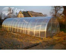Теплиця збірна з оцинкованого профілю Радуга з полікарбонатом Greenhouse NANO 4 мм 3х6х2 м