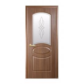 Двери межкомнатные Новый Стиль ФОРТИС DeLuxe Р R 600х2000 мм золотая ольха