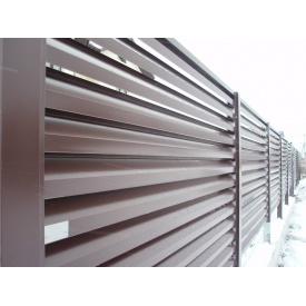 Забор-жалюзи Универсал 0,5 мм коричневый