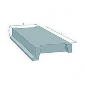 Лестничная площадка ребристая железобетонная Стройдеталь ЛПР28-14 320х1300х2800 мм