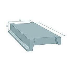 Лестничная площадка ребристая железобетонная Стройдеталь ЛПР40-18 320х1820х4020 мм