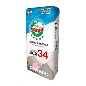 Клей Anserglob ВСХ 34 для керамограніта 25 кг
