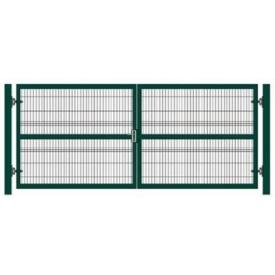 Ворота распашные из металлического каркаса зашитого сеткой 2 м