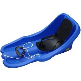 Санки с ремнем безопасности Plastkon Бамби 74х38х33 см синие