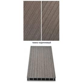 Террасная доска Гамрат 25х160х2400 мм темно-коричневая