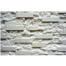 Лицювальна мармурова плитка Скеля 10х50х20 см біла