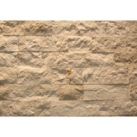 Облицовочная мраморная плитка Крема Маре 20x140x20 мм