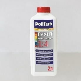 Грунт-концентрат 1:4 Polifarb 1 л молочно-белый