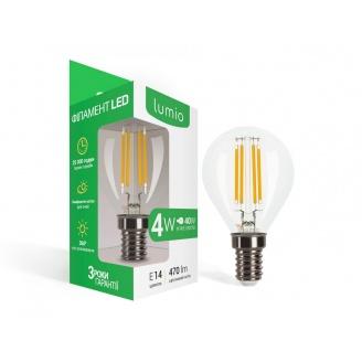 Светодиодная лампа Lumio LED филамент 4W 470 lm G45 E14 мягкий свет